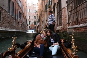 Kelly & Masha on a Gondola in Venice