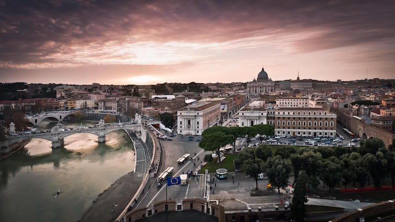 Rooftop Bars in Rome Near the Vatican