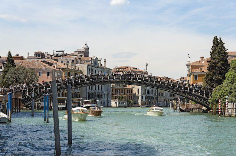 Accademia bridge in Venice (South East exposure)