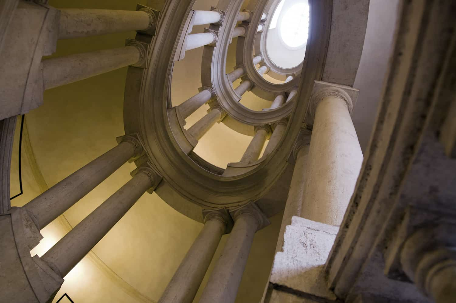 Helicoidal staircase by Borromini