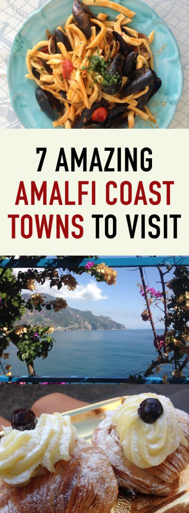 Amalfi Coast towns Pin