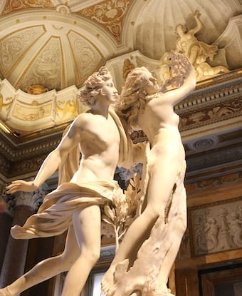 Borghese Gallery Rome's top museums apollo & daphne