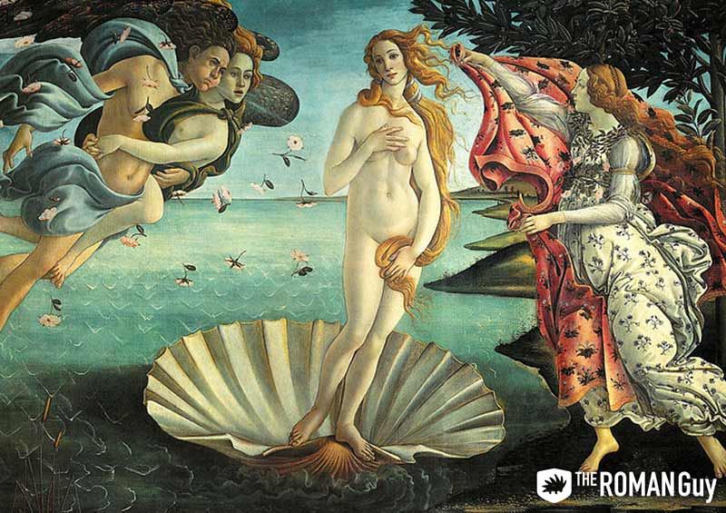 Botticelli's Birth of Venus at the Uffizi Gallery in Florence, Italy
