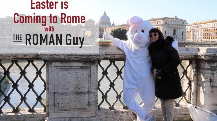 Bunny Bridge easter in Rome italy