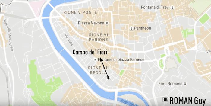 Campo de Fiori Map
