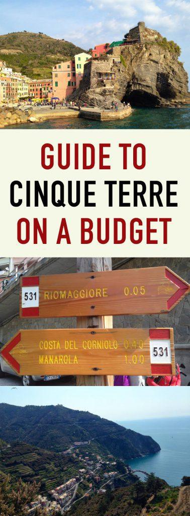 Cinque Terre on a Budget - Pinterest