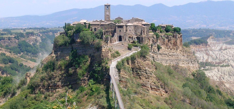 Town of Civita di Bagno regio in Umbria on Day trip to Umbria from Rome