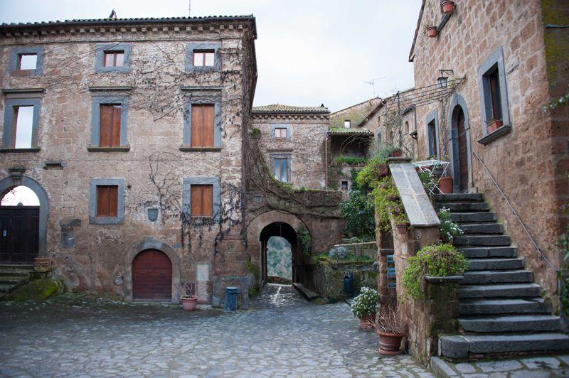 Civita Romantic Towns Italy