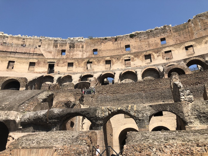 Colosseum earthquake damage