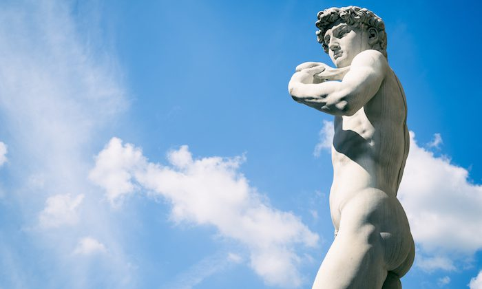Statue of David Florence Italy Outdoors in Blue Sky