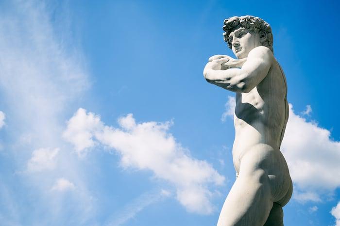 Statue of David in the Piazza della Signoria in Florence