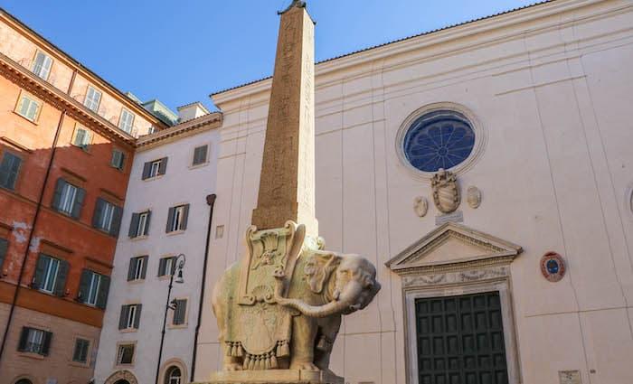 Elephant statue outside Minerva