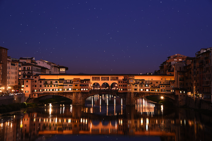 Florence Ponte Vecchio Italy by night