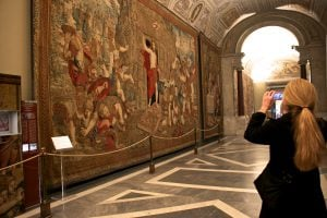 Vatican museum tour Gallery of tapestries