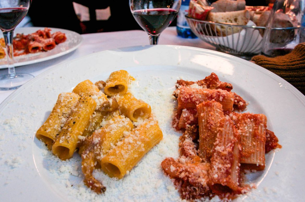 where to eat trastevere rome amtriciana carbonara best restaurant