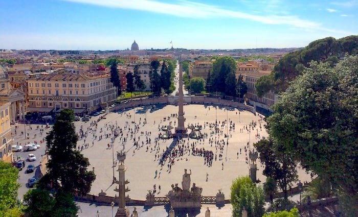 Il Pincio Terrace Overlooking Piazza Del Popolo