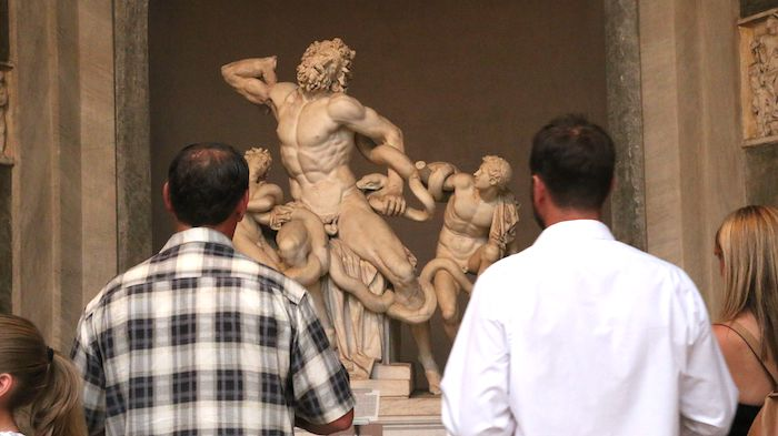 Laocoon with crowds