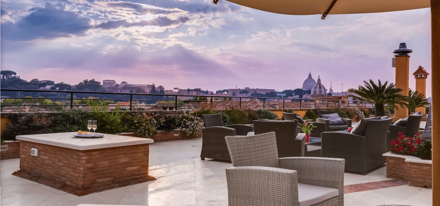 Best Rome Hotels with Rooftop  Bars & Restaurants