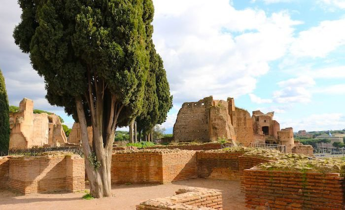 Palatine Hill near the Colosseum