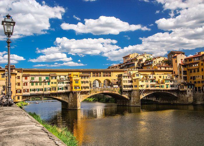 Ponte Vecchio Arch bridge in Florence, Italy.