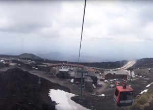 Visit Mount Etna - Up in the Cable Car