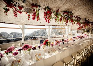 Wedding in Italy wonderful view from the dining table
