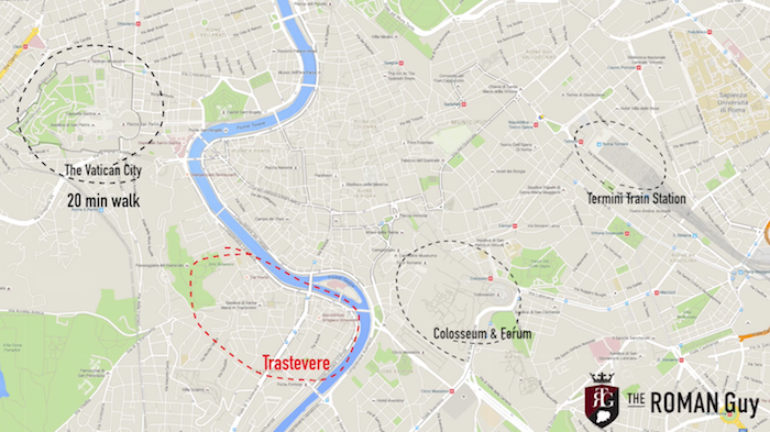 Trastevere Rome Map