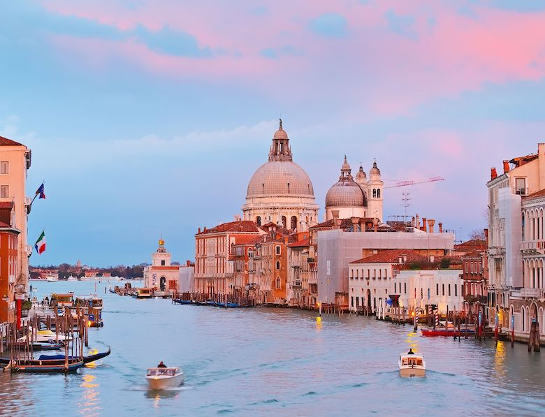 venice sunset stock