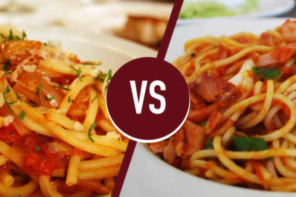 amatriciana or matriciana recipe-process-differences