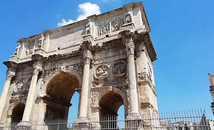 the roman guy arch of constantine