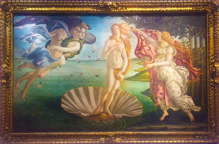 birth of venus uffizi gallery