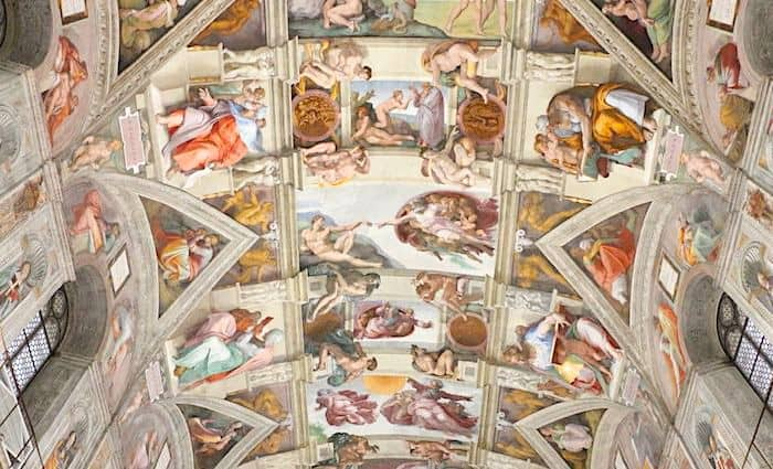Michelangelo's Ceiling and the Creation of Man in the Sistine Chapel one of the top thins to see