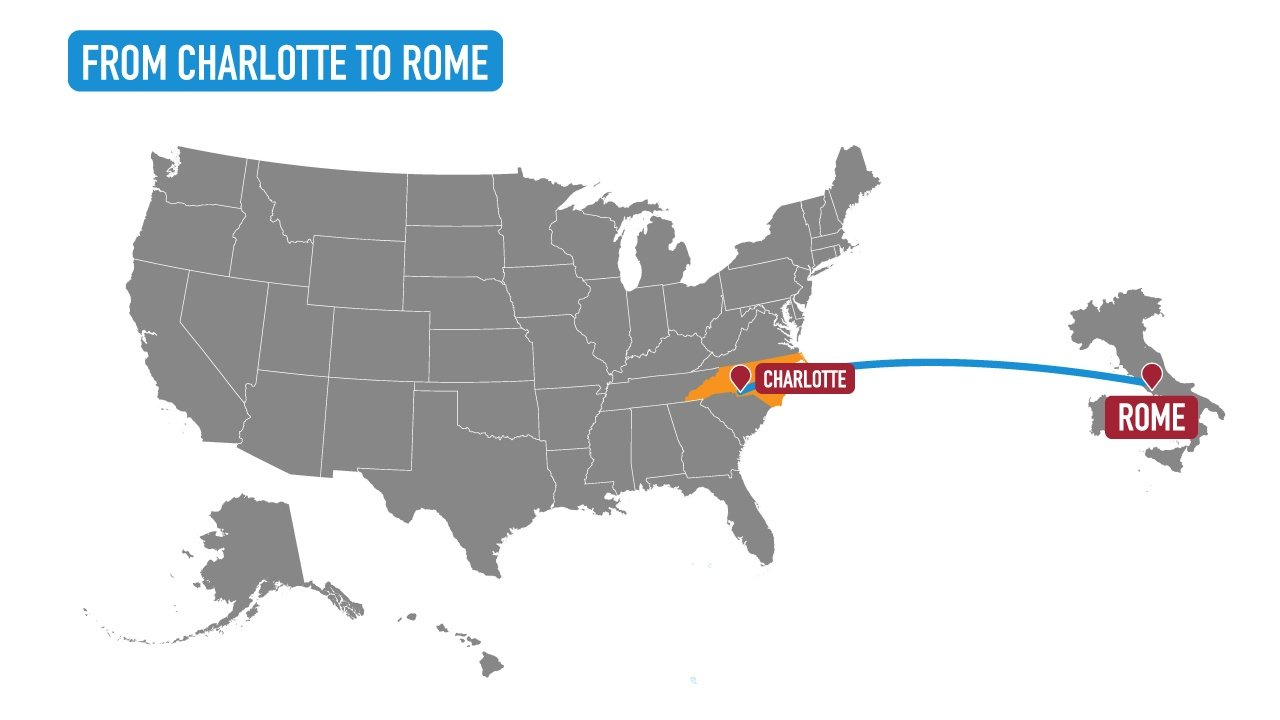 charlotte to rome