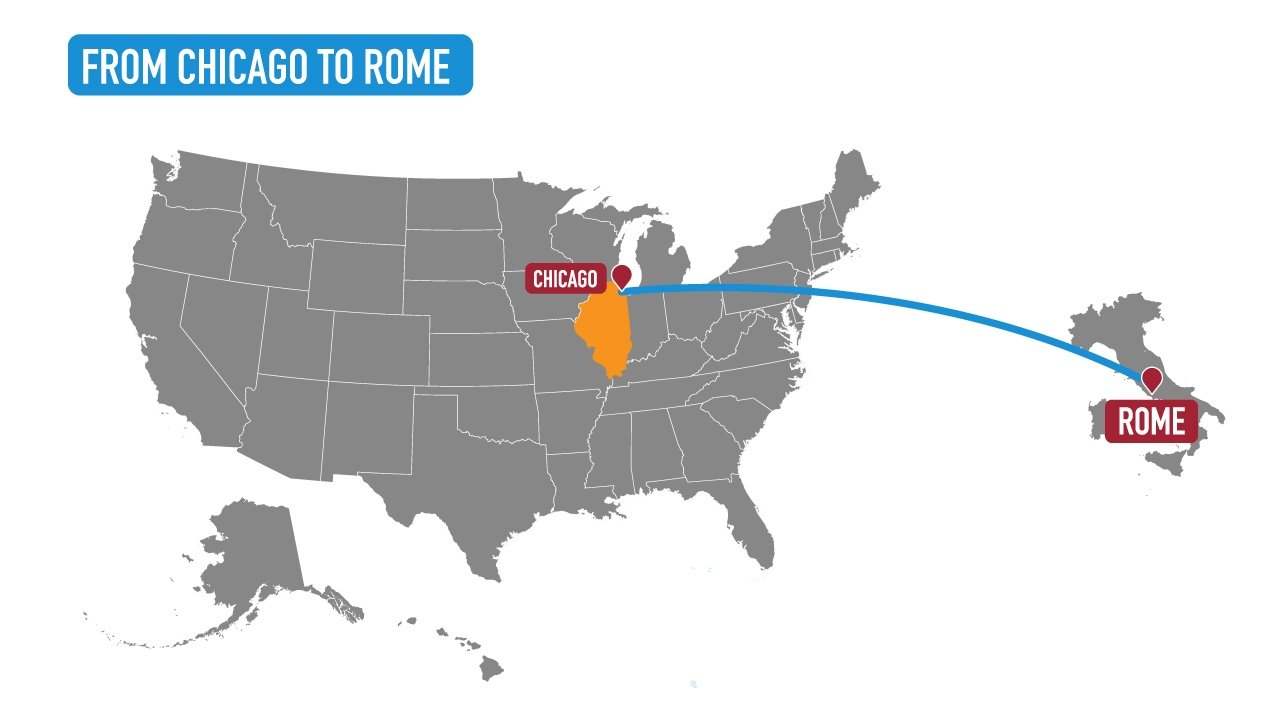 chicago to rome