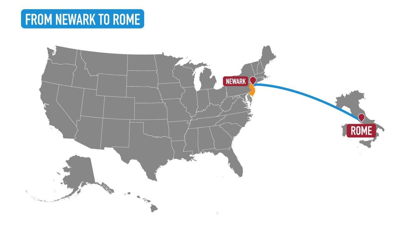 newark to rome