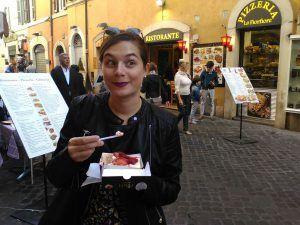 Italian Locals Federica the roman girl eating strawberries