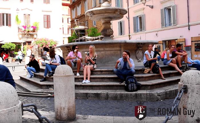 Fountain in Piazza della Madonna dei Monti