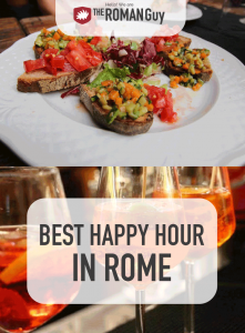 Where to find the absolute best happy hour in Rome! The Roman Guy Tours