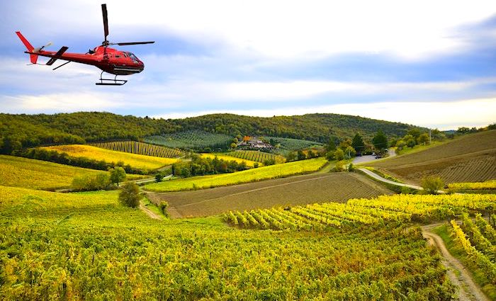 Helicopter tour to Tuscany from Rome