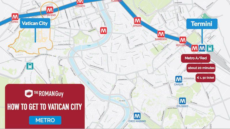 how to get vatican metro map