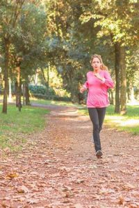 autumn path in rome Nadia running in the park