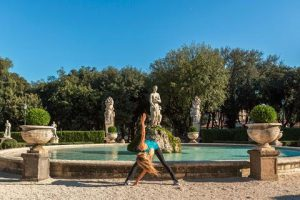 villa borghese travel fit and healthy in rome nadia by the fountain
