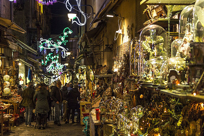 Christmas markets in Italy Naples