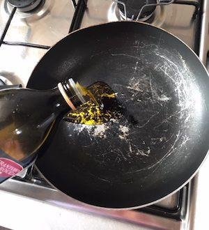 Italian fall recipe Step 1 - heat oil
