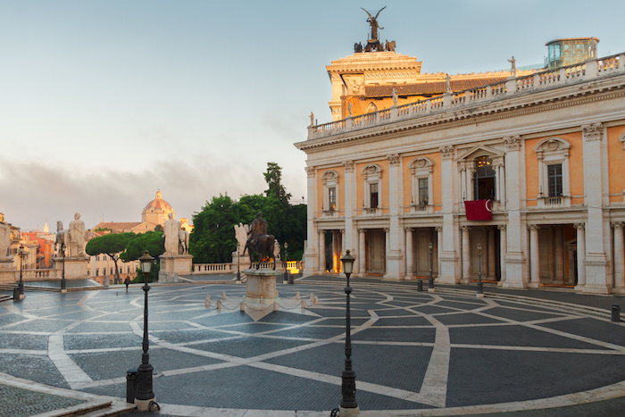 Campidoglio square, Capitoline hill in Rome, Italy