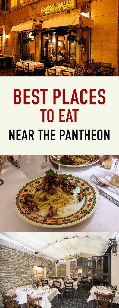 Pinterest best places to eat near the Pantheon