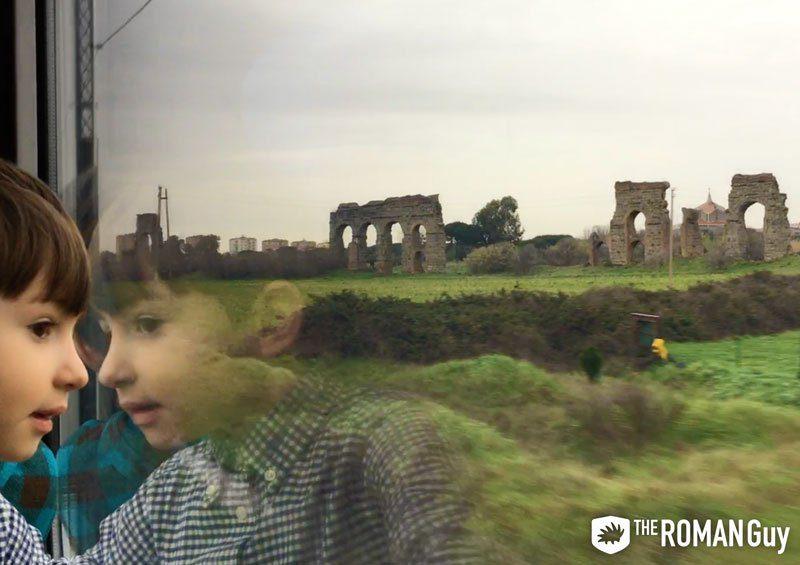 Train from Rome to Castel Gandolfo