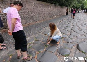 Ancient Appian Way in Rome