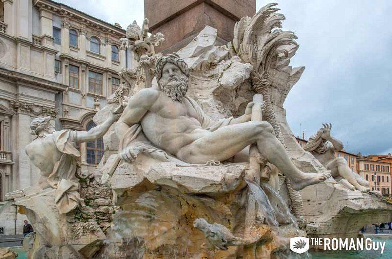 Piazza Navona Fountain, Rome Italy