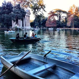 row boat villa borghese rome for families